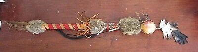 Maasai Beaded Talking Stick African Tribal Art Rungu Throwing Club Masai