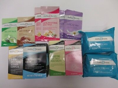 12 Studio 35 Beauty Assorted Facial Products - New - Aa 9390