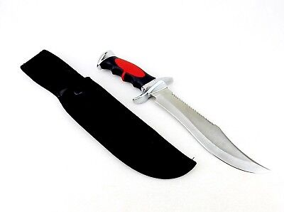 "Fixed Blade Hunting Knife, Survival Knife, 12.75"" Knife, Molded Grip, W/Sheath"