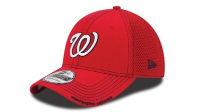 Washington Nationals New Era Neo 39THIRTY Stretch Fit Flex Mesh Back Cap Hat 492322d41