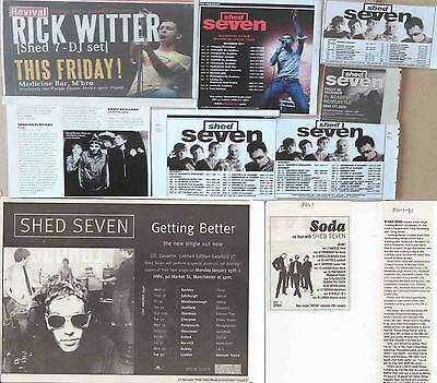 SHED SEVEN : CUTTINGS COLLECTION -adverts-
