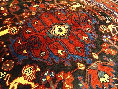 "Mint C 1930 Antique Persian Nahavand Exquisite Hand Made Rug 5' 2"" x 9' 1"""
