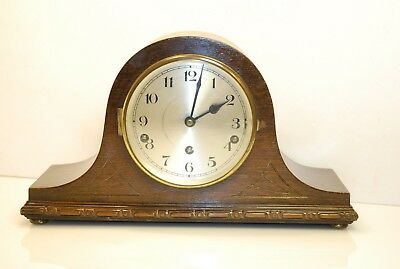 Stunning Art Deco Napoleon Hat Westminster Chime Mantel Clock