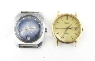 Lot Of 2 Vintage Mens Wristwatches- Longines, Cronel- No Reserve #501
