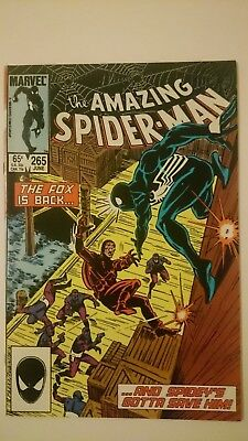 Amazing Spider-Man # 265  Vf/nm  1St App Of Silver Sable  1St Print  1985