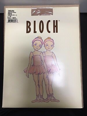 2 PACK of NEW Bloch Light Tan Footless Tights, TO940G, Small Child