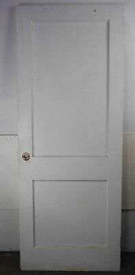 "Antique Vintage 2 Panel Interior Door 29-7/8"" X 76-1/8"" (G2) 1950's Local Pickup"
