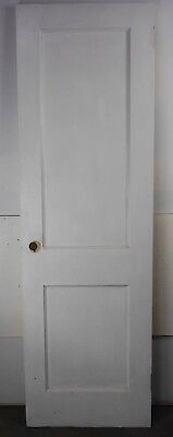 "Antique Vintage 2 Panel Interior Door 23-3/4"" X 76-1/4"" (J2) 1950's Local Pickup"