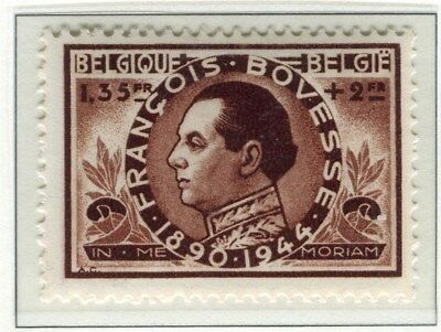 BELGIUM;   1946 early Bovesse issue fine Mint hinged 1.35Fr. value