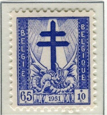 BELGIUM;    1951 early Anti- TB issue Mint hinged 65c. value