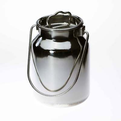 2 litre Milk Billy Can & Lid Stainless Steel Cow Dairy Goat Sheep