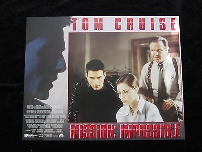 MISSION IMPOSSIBLE lobby card # 1 - TOM CRUISE, BRIAN DE PALMA