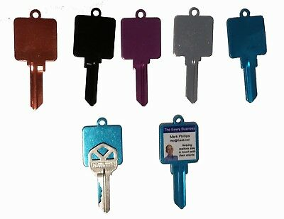 10 pack of Titanium Oversized Kwikset or Schlage Colored Key Blanks