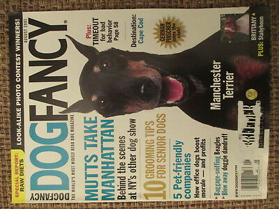 DOG FANCY MAGAZINE - Manchester Terrier - August 2001