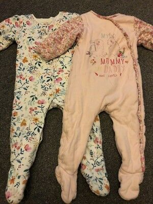 Padded / Wadded Sleepsuit Mothercare 12-18 Months X2