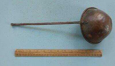 Collectable Rustic Vintage Hand Made Copper Ladle with Beaten Finsh