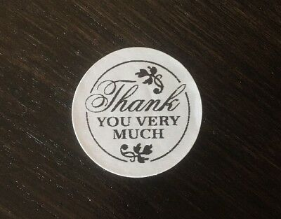 """100 Thank You Very Much ! Stickers Envelope/package Seals Labels 1"""" Round"""