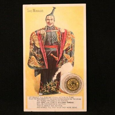 J & P Coats Trade Card - The Mikado
