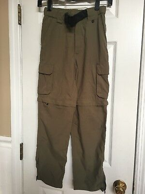 Boy Scouts Switchback Pants Convertible Zip Off Hiking Shorts Youth Size Small