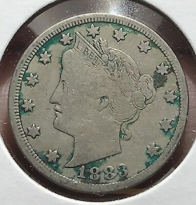 1883 Liberty V Nickel. Nc Nice Collector Coin For Your Collection.1