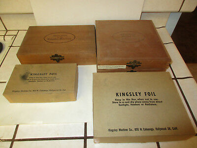 From dads garage Kingsley Machine co foil stamping-misc items total of 5 boxes