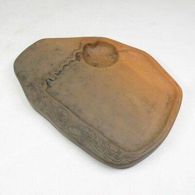 F670: Chinese pottery ware ink stone of good shape and sculpture work