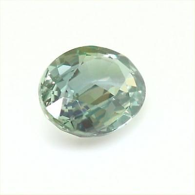 Certified Natural Unheated Green Sapphire VVS Clarity Gorgeous Color 1.41 Carats