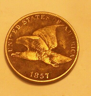 ** 1857 Flying Eagle Cent  Scarce Old Coin **