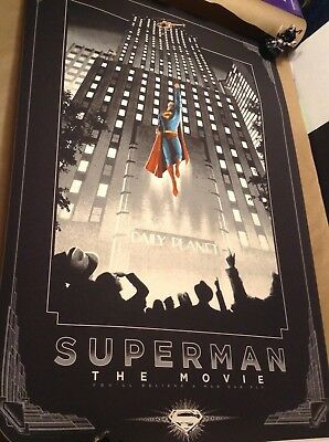 Superman The Movie 1978 Regular Poster Helicopter Rescue $48