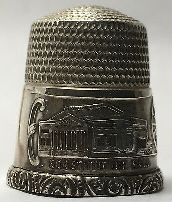 Simons Bros. Co. Sterling Thimble MINT - Daughters of the American Revolution