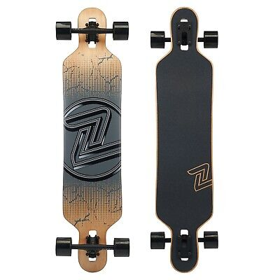 "Z-Flex Cracked Black Drop-Thru Longboard Complete 41.5"" RRP: $209"