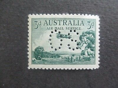 Pre decimal Stamps: 3d Airmail Perf OS Mint    (r182)