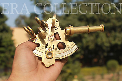 4 Inches Nautical Antique Sextant Marine Ship Instrument Vintage Gift Item