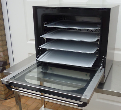 New Electric Convection Oven / Twin Fan-Assisted 4 Trays Aluminium / Commercial