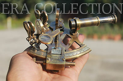 Nautical Sextant Antique Marine Instrument Solid Brass 4 Inches Maritime Decor