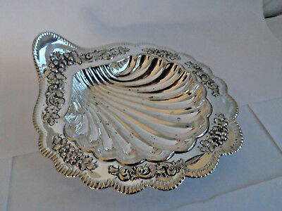 Antique Repousse Silver Plate Pretty Shell Shape Sweetmeat Dish  - Xmas Nibbles