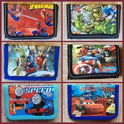 *NEW* Boys Spider-Man/Marvel Super Heroes/Avengers/Thomas/Cars Wallet