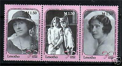 Lesotho 1990 Queen Mother 90th Birthday SG967/9 MNH