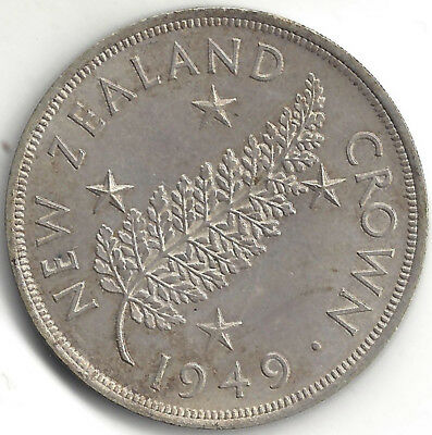 New Zealand Pre-decimal 1949 King George The Sixth Crown in very good condition