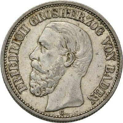 Künker: Baden, Friedrich I., 2 Mark 1901 G