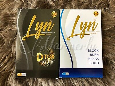 Value Set (2Boxes/10Days) Of Detox Dietary Supplement From Lyn By Pim Block&Burn
