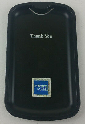 American Express AMEX 2 x Black Bill Check Presenter Guest Tip Thank You Tray
