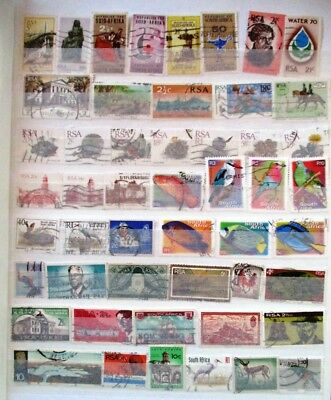 South Africa  used stamp selection (50) just $2.40