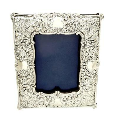Antique Victorian Sterling Silver Photo Frame - 1900