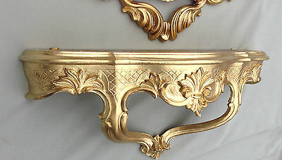Wall Console Baroque Gold Spiegelkonsolen Antique 45x21 Shelf Cp68