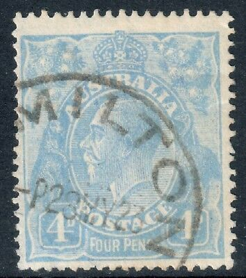 KGV 4d Bright Blue, Single Watermark SG65 Very Fine Used