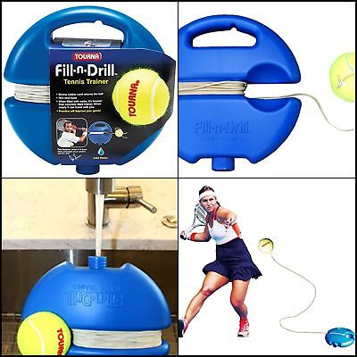 Fill Drill Tennis Trainer Perfect Portable Tennis Training Aid Stored Easily