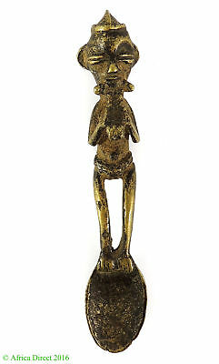 Dogon Spoon Figurine Brass Ceremonial Mali African Art SALE WAS $135