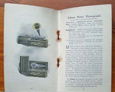 Edison Phonograph, Illustrated advertising booklet 1903