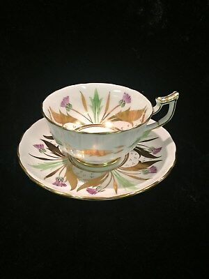 Vintage Royal Chelsea English Bone China Cup and Saucer 333A